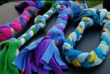 Homemade Dog Toys / Learn how to make your dog's toys out of things around the house.