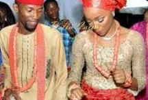 """Wedding Parties #NaijaGlam / Nigerian weddings, unlike any others, are not all about the bride and the groom but also a time for friends and family to """"shine"""", glam-up and impress too (oh yes!). So enjoy these sights of colorful wedding attires and glam from Nigerian traditional wedding parties, and the 'white weddings' too!"""