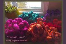 Yarn-Hand-Dyed Bulky Rayon Chenille