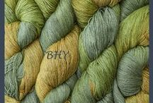 Yarn-Hand-Dyed Silk Linen / This is a new yarn from Blue Heron. 65% silk/35% linen 750y/8oz skein Very soft with a subtle luster. Knit on size 5 or 6 needles. Makes great lace.