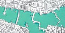 Karten-Kunst - Map-Art