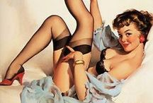 Vintage pin up illustrations