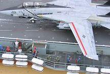 1:48 carrier flight deck diorama / Model diorama
