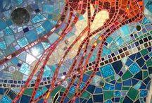 Ocean art/clay/mosaic/glass/beading