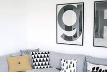 Scandi Style Art / A collection of stylish art prints to complement Scandinavian influenced interiors. You can purchase most of these prints online at Pop Motif.