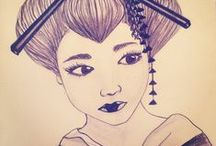 MES T R A V A U X #Seipha / Mes dessins mes carnets mes projets mes photos ! #Seipha