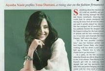 Tena Durrani Press Clippings / Welcome to Tena Durrani's World of Magazine Covers, Celebrities, Interviews and Press Clippings.