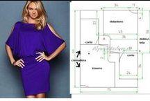 Bayan giysi kalıpları / Elbise,etek,bluz, pantolon.