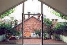 Casas/Houses / Espacios interiores y exteriores Interior and exterior spaces