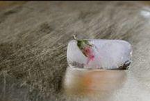 ice / Klaudia Krupa, ice cubes, ice cream, sherbet, frozen fruits, www.projektowoo.blox.pl
