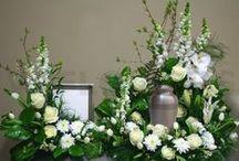 Flower Arrangements / Floral arrangements for a funeral service or wake.