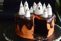 Halloween! / Halloween -herkkuja: kakkuja, pikkumakeaa, keksejä