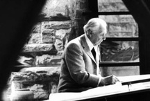 """Frank Lloyd Wright / One of the most influential architects of modern time spent many years in the Chicago area. He lived and worked in Oak Park, IL and developed his famous """"Prairie Style"""" architecture here. These are pictures of the man and his legacy from all over the world."""