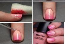 Nagels en make up / Creatieve ideeën om weer eens wat anders met je nagellak te doen :)