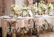 Beautiful table settings / I love setting a table beautifully!  Food taste better and you make people feel special!  ❤️