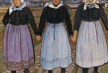 Biéler Ernest / Artiste-peintre suisse (1863-1948). Il appartient, avec Raphaël Ritz, Édouard Vallet, Albert Chavaz et d'autres, à ce qu'on appelle, l'école de Savièse (Valais). À conçu les costumes, les chars et les décors de la Fête des Vignerons de 1927.