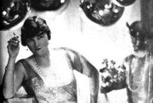 Misia Sert / Née Marie Sophie Olga Zénaïde Godebska (1872-1950), égérie de nombreux peintres, poètes et musiciens du XXe siècle. Elle avait de grands talents de pianiste, une beauté incomparable et un grand charisme.    Elle devient le modèle des plus grands peintres de l'époque: Toulouse-Lautrec, Bonnard, Odilon Redon, Vuillard et surtout Renoir. / by Vicou S.