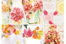 ブーケ・会場装花 [ カラフル ] / ブーケや会場装花、花冠等のウェディングフラワーを中心に、ケーキ、ドレス、招待状、シューズ、アクセサリー等、結婚式のイメージをカラー別にまとめたボードです。  [ wedding inspiration : colorful mix color ] wedding,flower,bouquet,table coordination,centerpiece,decor,dress,shoes,invitation card and so on.