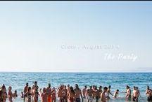 My Beach wedding party / destination wedding, wedding party, wedding, groom, bride.