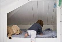 Children's attic bedroom.