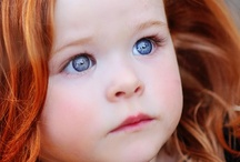 red hair - blue eyes