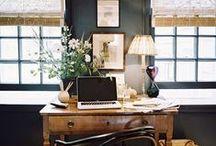 WORKSPACE // BUREAU / Ideas of organization of desk, workplace for the house  // Idées d'organisation de bureau, lieu de travail pour la maison