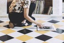 FLOOR // SOL / Lovely floors for home : stone floor, cement tiles ... // Jolis sols pour la maison : parquet, carrelage, carreaux de ciment