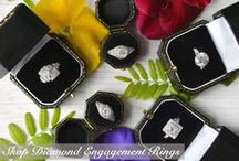 Vintage Engagement Rings / These vintage engagement rings span the eras (Victorian, Edwardian, Art Deco, Retro, and Estate) for a timeless, classically beautiful look. All available at abrandtandson.com