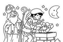 St. Nicholas coloring, Sinterklaas Kleurplaten / St. Nicholas coloring, Sinterklaas Kleurplaten