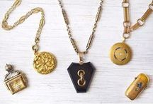 Lot's of Lockets / Antique, vintage, and estate lockets from A. Brandt + Son Antique & Estate Jewelry. All are available for purchase at www.abrandtandson.com.