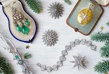 Holiday Jewelry / These holiday-inspired jewelry pieces include festive colors, dazzling starbursts, and sentimental treasures. Shop the collection at www.abrandtandson.com.