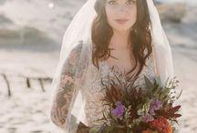Boho veil ideas / Boho wedding veil inspiration