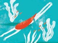 Summer swimming in the sea / Some more illustrations are here https://www.behance.net/gallery/54887719/summer nemotokyoko.com #book #illustration #sea #KyokoNemoto #summer #drawing #simple