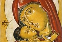 Original byzantine Icons / Licia Atelier Original Byzantine Icons located in New York City are original Egg tempera on wood in the Medieval Art style. http://liciadesigns.com https://www.etsy.com/shop/liciaatelier / by Licia Hanshaw Atelier