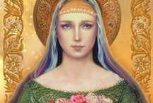 Goddess Mother Mary / As you make others stronger, it strengthens not only yourself but the entire world. For me this Goddess is a beautiful, compassionate & great healer.