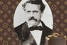 Louis Vuitton Malletier / Born Aug 4 1821 in Anchay France, moved to Paris Dec 2 1851 at 16, founded LV in 1854 Paris-France and Died 1892.