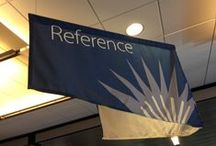 What is in Reference? / The Reference Collection on the 2nd floor has many useful items, ranging from the ever needed stapler to multi-volume reference sets.  Come ask for help at the Reference Desk on the 2nd floor!