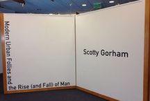 Modern Urban Follies by Scotty Gorham / Artist and MFA candidate Scotty Gorham's 2nd floor installation, Modern Urban Follies, Fall 2014