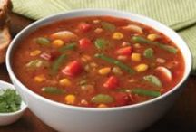 Soup / Various soups:  pasta, traditional, paleo, grain-free, soy-free, dairy-free, low-carb, healthy, low calorie, low fat, vegan, vegetarian, flexitarian, stew, slow cooked, etc.