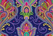 Paisley / A photo collection of paisley colored items