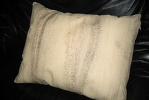 For the home or boat / The cover of the pillow is made of salmon leather.