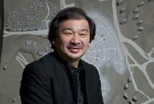 S H I G E R U | B A N / Born: 1957, Tokyo, Japan,Shigeru Ban is an accomplished Japanese and international architect, most famous for his innovative work with paper, particularly recycled cardboard paper tubes used to quickly and efficiently house disaster victims.