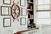 Nautical Theme Decor / Get onboard with these nautical-themed rooms inspired by the seafaring life:)