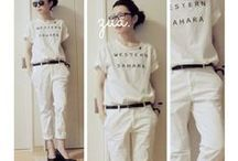 White Jeans Outfits / 白パンツ