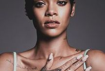 p || rihanna / robyn rihanna fenty •  a barbadian singer, songwriter, fashion icon, philantropist, feminist and actress.