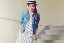 Striped Dress Outfits / ボーダーワンピースコーデ:1つは持っているであろう定番ボーダーワンピ。そのまま着ると、のっぺり寸胴体系に。 秋冬にむけて、プラスワンアイテムでどれだけ変わるか調べてみました!