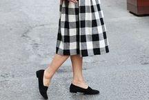 Gingham Skirt Outfits / 今年はギンガムチェックのスカートを大人っぽく着る♪