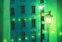 Paris / Il n'y a que deux endroits au monde où l'on puisse vivre heureux:  chez soi et à Paris. - Hemingway