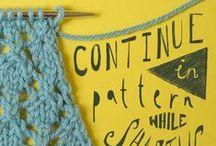 Knit Techniques/ Advice