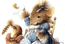 ILL: MARJOLEIN BASTIN / Scenes of nature from this prolific Dutch artist. She created Vera the a mouse. I love her softness.